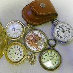 Lot of 5 Pocket Watches  Incl. Advance, Rodania, & More  Parts/Pieces #223E