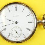 Circa 1913 Elgin Fancy Open Face Antique Pocket Watch 17j 15s 42.3mm FREE SHIP