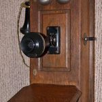 Antique Western Electric Wooden Wall Phone