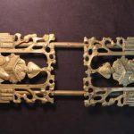 Antique Brass Arts & Crafts Adjustable Book Bookend Holder