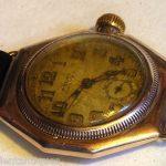 ANTIQUE GOLD ROLEX MEN'S WATCH OYSTER 9C HEXAGONAL CASE ART DECO 1930'S