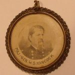 rare antique political pendant General W. S. Hancock