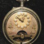 OLD VINTAGE STEEL CASE 8 DAY HEBDOMAS  POCKET WATCH 1910