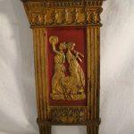 Antique CAST IRON Figural ART NOUVEAU Vaudeville THEATER SEAT Sides SALVAGE