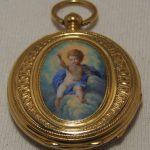 UNIQUE RARE SOLID 18k GOLD ENAMEL VACHERON & CONSTANTIN WITH PORTRAIT OF BOY