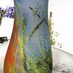 antique Daum Nancy, signed Vase, 17.5″, 1900's