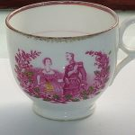 EX RARE EARLY ANTIQUE VICTORIA & ALBERT COMMEMORATIVE TEA CUP SUNDERLAND LUSTRE