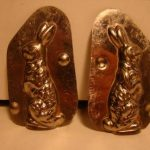 Antique Chocolate or Candy Bunny Rabbit Mold #4135 Metal Made in Germany