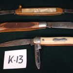 """Lot of 3 (three) antique pocketknives one """"Schrade"""" and two """"Colonial""""  ASIS"""