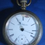 1898 Waltham 7 Jewel Silver Tone Pocket Watch K