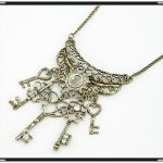 Hot  vintage ro fashion Love key jewelry necklace antique chain