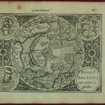 NORTH POLE 1608 MERCATOR/HONDIUS ANTIQUE COPPER ENGRAVED MAP 1st FRENCH EDITION